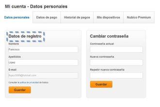 Mi cuenta Nubico Premium